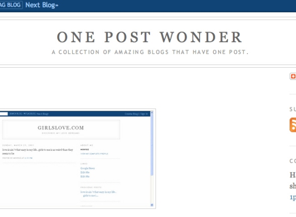 one post wonder
