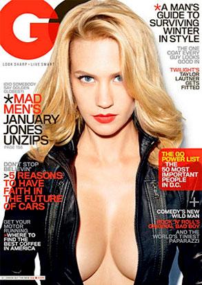January Jones GQ cover